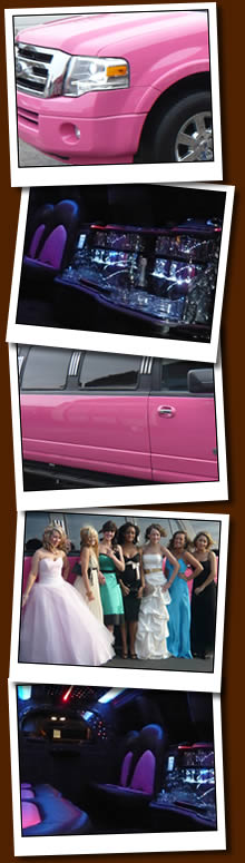 Pink Limo Hire For Hen Nights, Proms And Birthdays